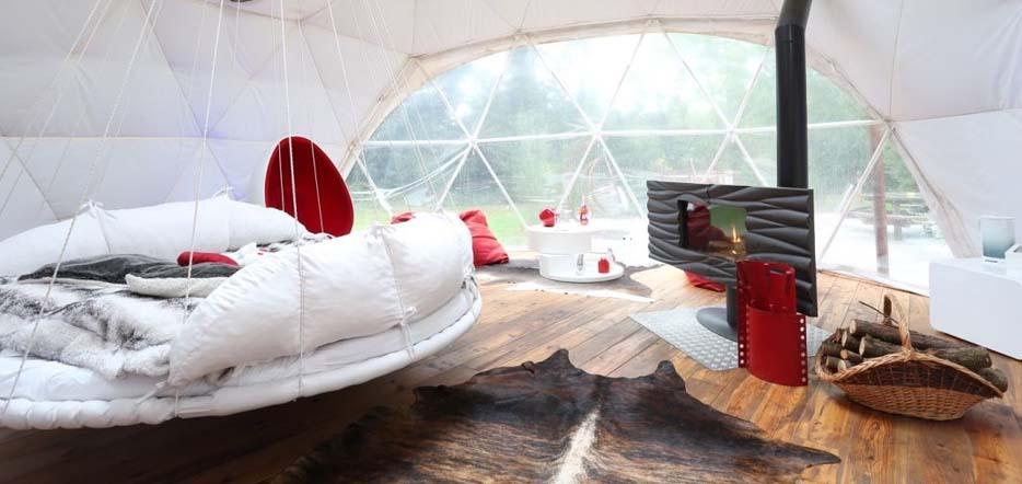 Séjour romantique en igloo